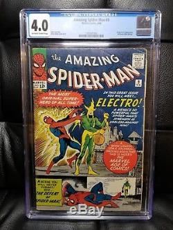Amazing Spider-Man #9 CGC 4.0 VG KEY Origin & 1st appearance Electro 1964