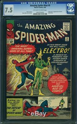 Amazing Spider-Man #9 CGC 7.5 1964 1st Electro! Key Silver Age! H1 913 cm