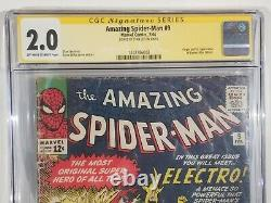 Amazing Spider-Man #9 CGC Signed Stan Lee 1st Appearance Electro KEY