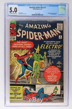 Amazing Spider-Man #9 Marvel 1964 CGC 5.0 Origin & 1st App of Electro