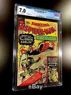 Amazing Spider-Man ASM #14 CGC 7.0 1st Green Goblin New Case