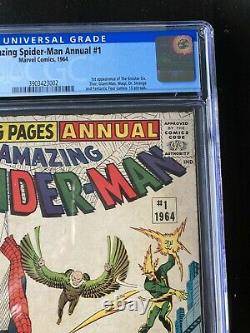 Amazing Spider-Man Annual 1 CGC 4.0 OW Pgs. 1st Sinister Six key 3 Day Auction