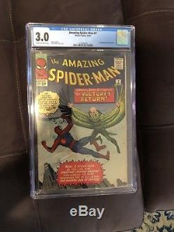 Amazing Spider-Man CGC Silver Age Lot 3,4,6,7,8,10,13,14,46 Stan Lee Ditko