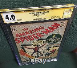 Amazing Spider-man 1 CGC Stan Lee SS