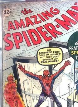 Amazing Spider-man #1 Cgc 2.5 (unpressed) 1st Jj Jameson Chameleon Mega Key