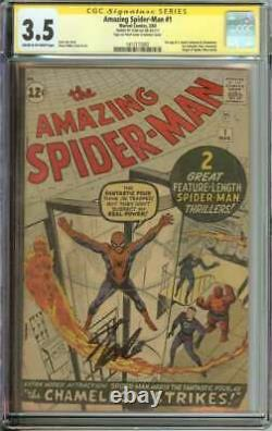 Amazing Spider-man #1 Cgc 3.5 Cr/ow Pages // Signed By Stan Lee