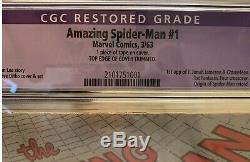 Amazing Spider-man #1 Cgc 3.5 Restored Label 1963 Key Holy Grail Issue