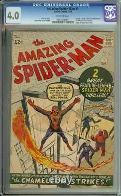 Amazing Spider-man #1 Cgc 4.0 Ow Pages // 1st App J Jonah Jameson 1963 Marvel