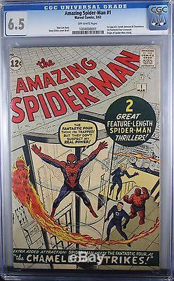 Amazing Spider-man #1 Cgc 6.5 Stan Lee & Steve Ditko Marvel Key Issue 1963