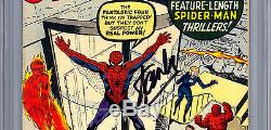Amazing Spider-man #1 Cgc Ss 7.5 Signed By Stan Lee Premiere Issue 1963