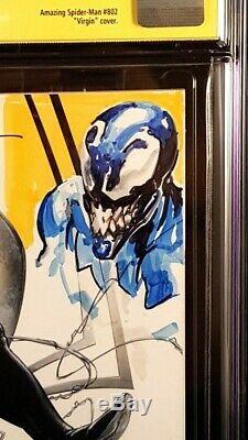 Amazing Spider-man #1 Cgc Ss 9.8 Crain Variant + Venom Sketch Carnage Black Cat