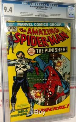 Amazing Spider-man 129 CGC 9.4, Key Marvel 1st Punisher