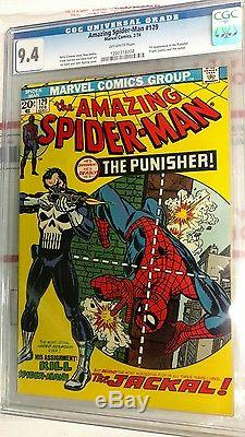 Amazing Spider-man 129 CGC 9.4, Key Marvel 1st Punisher (OW)