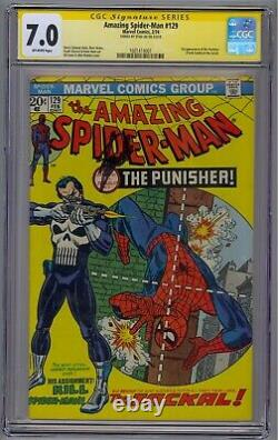 Amazing Spider-man #129 Cgc 7.0 Ss Signed Stan Lee 1st Punisher