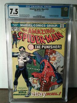 Amazing Spider-man #129 Cgc 7.5 / First Appearance Of The Punisher No Reserve