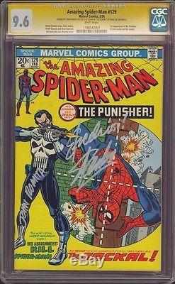 Amazing Spider-man 129 Cgc 9.6 2x Ss John Romita Stan Lee Excelsior! Punisher