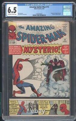 Amazing Spider-man 13 Cgc 6.5 6/64 Origin & 1st App Of Mysterio Quentin Beck