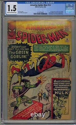 Amazing Spider-man #14 Cgc 1.5 1st Green Goblin