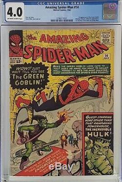 Amazing Spider-man #14 Cgc 4.0 1st Green Goblin