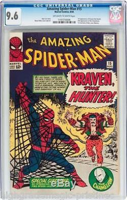 Amazing Spider-man #15 Cgc 9.6 Oww 1st App Kraven The Hunter Cgc #1197716006