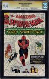 Amazing Spider-man #19 Cgc 9.4 Ss Stan Lee 2nd Highest Graded #1317518004