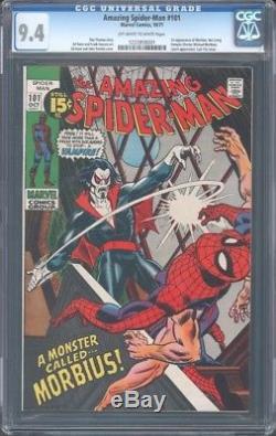 Amazing Spider-man (1963) #101 Cgc 9.4 Nm 1st Morbius