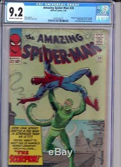 Amazing Spider-man 20 CGC NM- 9.2 1st Scorpion Classic Ditko Near Mint-