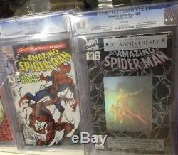Amazing Spider-man 200-500 Vol 2 1-58 All Cgc 9.8 238 252 298 299 300 301 361 36