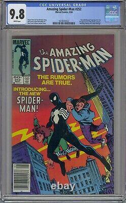 Amazing Spider-man #252 Cgc 9.8 1st Black Costume Htf Newsstand Upc White Pages