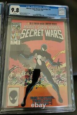 Amazing Spider-man 252, Marvel Team up 141, Secret Wars 8 ALL CGC 9.8 WHITE PGS