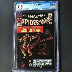Amazing Spider-man #28 (1965) Cgc 7.5 Origin & 1st App Of Molten Man! Key