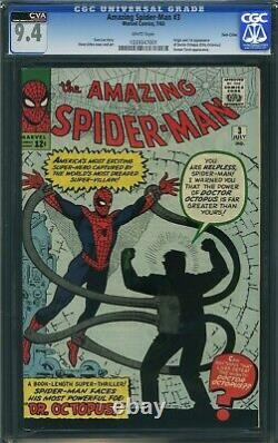 Amazing Spider-man 3 CGC 9.4 1st Doctor Octopus 1039347001 TWIN CITY Pedigree