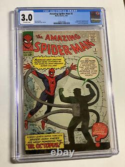Amazing Spider-man 3 Cgc 3.0 Ow Pages 1st Dr Doctor Octopus Doc Ock Marvel