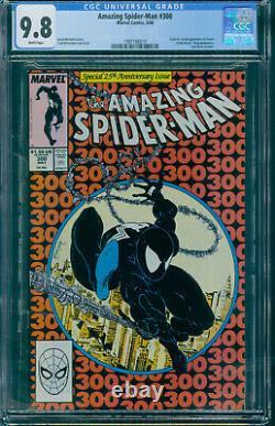 Amazing Spider-man # 300 CGC 9.8 1ST Venom White Pages $4995 NM-MT