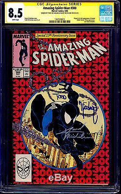 Amazing Spider-man #300 CGC SS 8.5 WHITE signed McFarlane Michelinie 1st VENOM