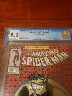 Amazing Spider-man #300 Cgc 9.2 Origin 1st Full Venom Todd Mcfarlane