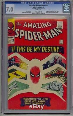 Amazing Spider-man #31 Cgc 7.0 1st Gwen & Harry Signed Stan Lee White Pages