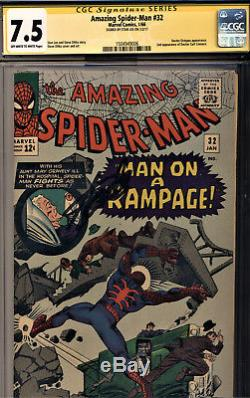 Amazing Spider-man #32 Cgc 7.5 Ss By Stan Lee-steve Ditko Story, Cover And Art