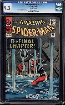 Amazing Spider-man #33 Cgc 9.2 1966 Silver Age Marvel Cgc #1017074008