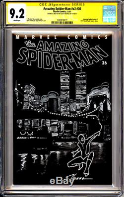 Amazing Spider-man #36 9/11 Tribute Cgc Ss 9.2 Signed/sketch By Scott Hanna