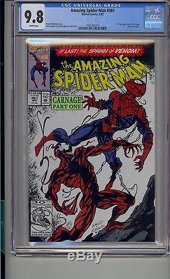Amazing Spider-man #361 Cgc 9.8 White Pages 1st App Carnage