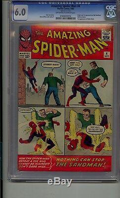 Amazing Spider-man #4 Cgc 6.0 1st Sandman Betty Brant Stan Lee
