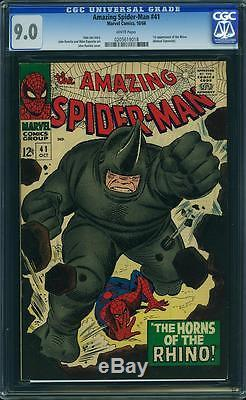 Amazing Spider-man # 41 cgc 9.0,1st print, Stan lee, Romita goblin arc, 39
