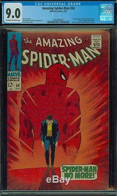 Amazing Spider-man # 50 CGC 9.0 OWW 1st app. Of Kingpin No Reserve