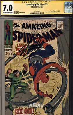 Amazing Spider-man #53 Cgc 7.0 Ss By Stan Lee-doc Octopus-gwen Stacey 1st Date