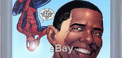 Amazing Spider-man #583 Cgc 9.8 Inaugural Variant Prez Obama Cvr & Story 2009