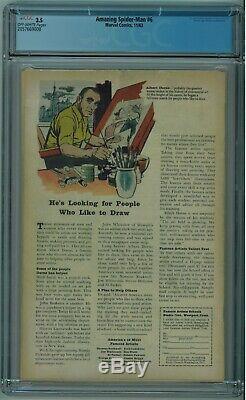 Amazing Spider-man #6 Cgc 3.5 1st Lizard Off-white Pgs 1963