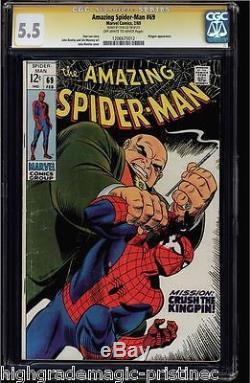 Amazing Spider-man #69 Cgc 5.5 Oww Stan Lee Ss Kingpin App. Cgc #1206675012
