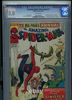 Amazing Spider-man Annual #1 CGC 5.0 First Appearance of Sinister Six
