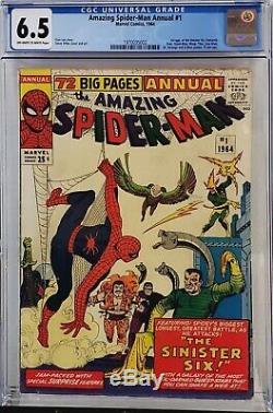 Amazing Spider-man Annual #1 Cgc 6.5 1st Sinister Six